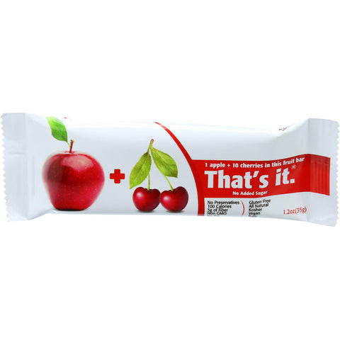 That's It Fruit Bar - Apple And Cherry - Case Of 12 - 1.2 Oz