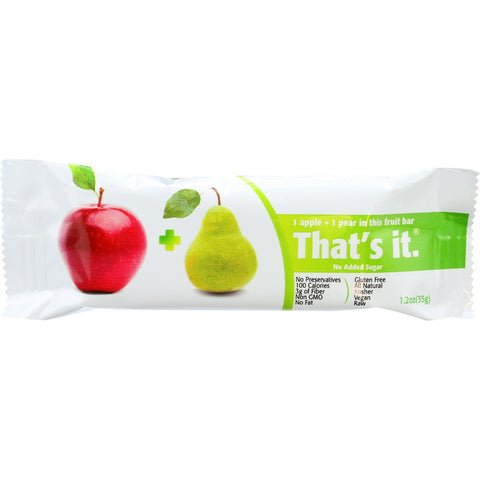 That's It Fruit Bar - Apple And Pear - Case Of 12 - 1.2 Oz