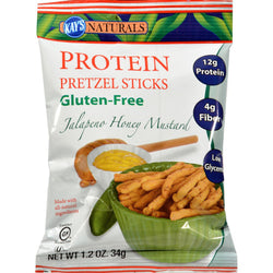 Kay's Naturals Better Balance Pretzel Sticks Jalapeno Honey Mustard - 1.2 Oz - Case Of 6