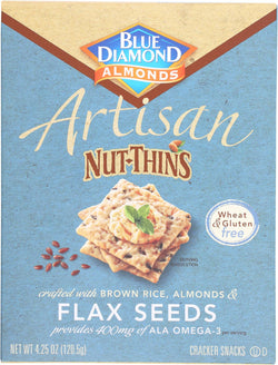 Blue Diamond Artesion Nut Thins - Flax Seed - Case Of 12 - 4.25 Oz.