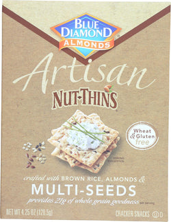 Blue Diamond Artesion Nut Thins - Multi Seed - Case Of 12 - 4.25 Oz.