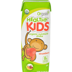 Orgain Kids Protein Shake - Strawberry - Case Of 12 - 8.25 Fl Oz.