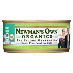 Newman's Own Organics Chicken Grain Free Dinner - Organic - Case Of 24 - 5.5 Oz.