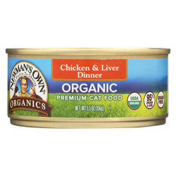 Newman's Own Organics Cat Food - Chicken And Liver - Case Of 24 - 5.5 Oz.