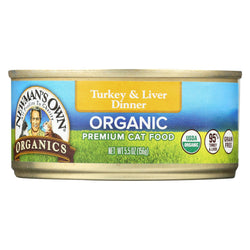 Newman's Own Organics Turkey And Liver Grain Free Dinner - Organic - Case Of 24 - 5.5 Oz.