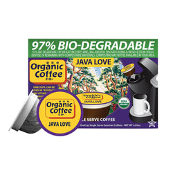 Organic Coffee Company Onecups - Java Love - Case Of 6 - 4.65 Oz.