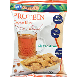 Kay's Naturals Cookie Bites - Honey Almond - Case Of 6 - 1.2 Oz