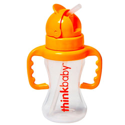 Thinkbaby Bottle - Thinkster - Straw - Orange - 9 Oz