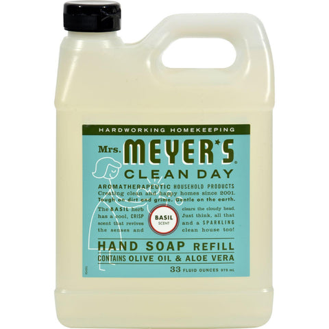 Mrs. Meyer's Liquid Hand Soap Refill - Basil - 33 Lf Oz - Case Of 6