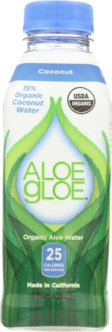 Aloe Gloe Coconut Organic Aloe Water - Case Of 12 - 15.2 Fl Oz.