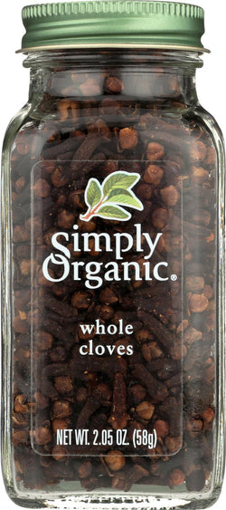 Simply Organic Cloves Whole - Case Of 6 - 2.05 Oz.