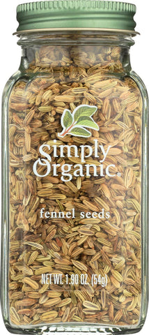 Simply Organic Fennel Seed - Case Of 6 - 1.9 Oz.