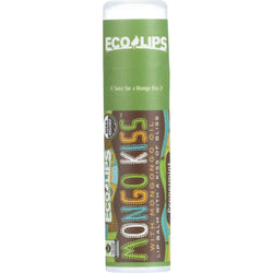 Mongo Kiss Display Center - Lip Balm - Organic - Eco Lips - Peppermint - .25 Oz - Case Of 15