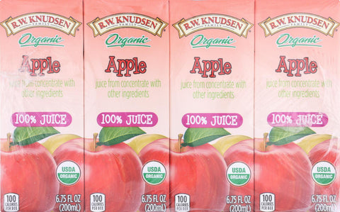 R.w. Knudsen Organic Juice - Apple - Case Of 7 - 6.75 Fl Oz.