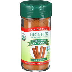 Frontier Herb Cinnamon - Organic - Ground - Vietnamese - 5 Percent Oil - 1.31 Oz