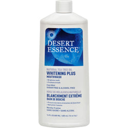Desert Essence Mouthwash - Tea Tree Whitening Mint - 16 Fl Oz