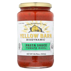 Yellow Barn Biodynamic - Tomato Basil Pasta Sauce - Case Of 6 - 19.75 Oz.