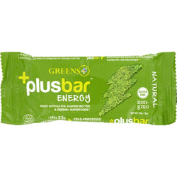 Greens Plus Energy Bar - Plusbar - Energy Natural - 2.08 Oz - Case Of 12