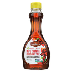 Madhava Honey Organic Maple Agave Pancake Syrup Cinnamon - Case Of 6 - 11.75 Fl Oz.