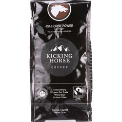 Kicking Horse Coffee - Organic - Whole Bean - 454 Horse Power - Dark Roast - 10 Oz - Case Of 6