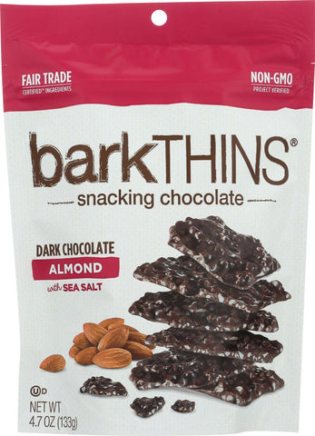Bark Thins Bark Thins Dark Chocolate - Almond With Sea Salt - Case Of 12 - 4.7 Oz.