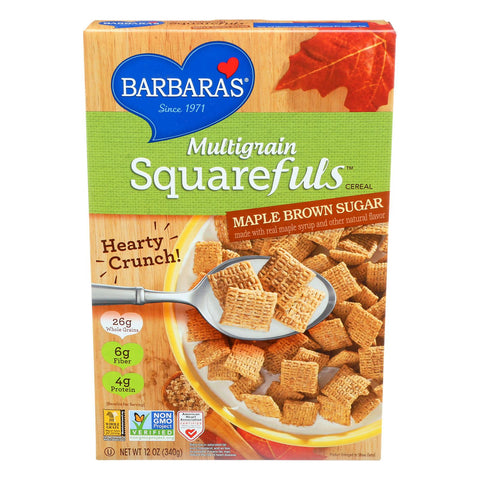 Barbara's Bakery Multigrain Squarefuls - Maple Brown Sugar - Case Of 12 - 12 Oz.