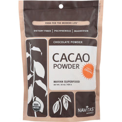 Navitas Naturals Cacao Powder - Organic - Raw - 16 Oz - Case Of 6