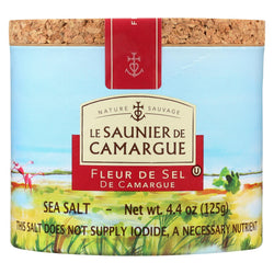Le Saunier De Camargue French Sea Salt - Fleur De Sel - Case Of 6 - 125 Gram