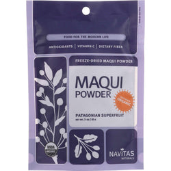 Navitas Naturals Maqui Powder - Organic - Freeze-dried - 3 Oz - Case Of 6