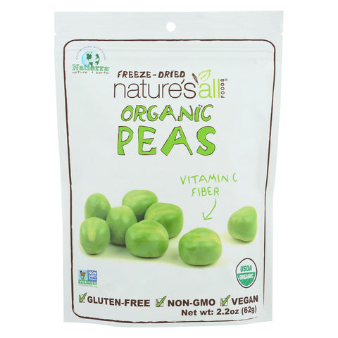 Natierra Freeze Dried - Peas - Case Of 12 - 2.2 Oz.