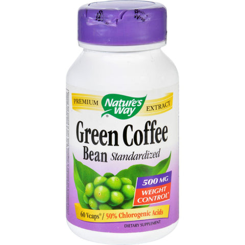 Natures Way Green Coffee Bean - 500 Mg - 60 Vegetarian Capsules