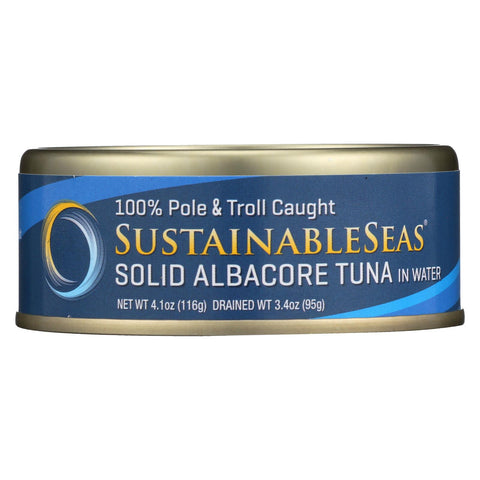 Sustainable Seas Solid Albacore Tuna In Water - Case Of 12 - 4.1 Oz.