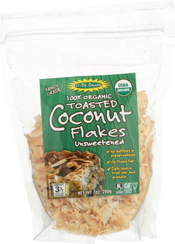 Let's Do Organics Toasted Coconut Flakes - Organic - Case Of 12 - 7 Oz.