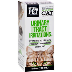 King Bio Homeopathic Natural Pet Cat - Urinary Tract Irritations - 4 Oz