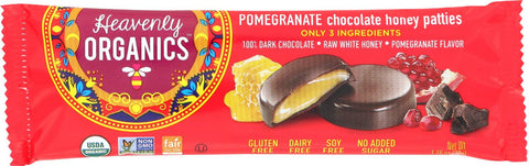 Heavenly Organics Heavenly Organic Chocolate Pomegranate - Chocolate Pomegranate - Case Of 16 - 1.2 Oz.