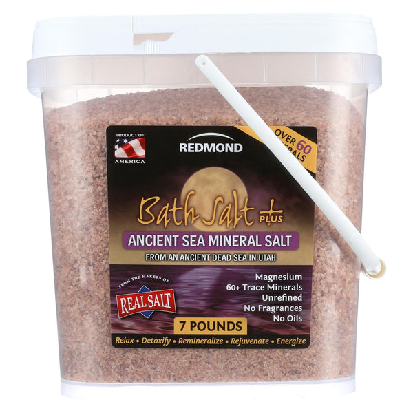 Redmond Clay Bath Salt Plus - Case Of 1 - 7 Lb.
