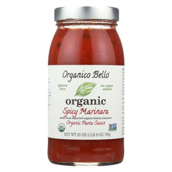 Organico Bello Marinara Pasta Sauce - Spicy - Case Of 6 - 25 Oz.