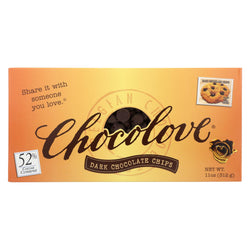 Chocolove Xoxox Dark Chocolate Chips - Case Of 12 - 11 Oz.