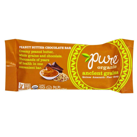 Pure Organic Ancient Grains Bar - Organic - Peanut Butter Chocolate - 1.23 Oz Bars - Case Of 12