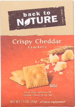 Back To Nature Crispy Cheddar - Case Of 6 - 7.5 Oz.