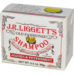 J.r. Liggett's Old Fashioned Bar Shampoo Counter Display - Jojoba And Peppermint - 3.5 Oz - Case Of 12