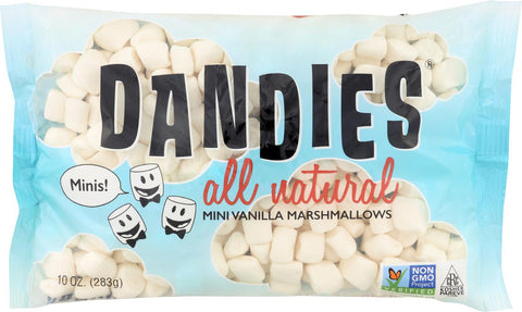 Dandies Air Puffed Mini Marshmallows - Classic Vanilla - Case Of 12 - 10 Oz.