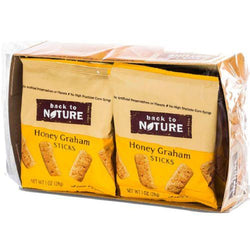 Back To Nature Mini Honey Graham Sticks - Snack Pack Case Of 100