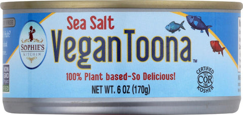Sophie's Kitchen Vegan Toona - Sea Salt - Case Of 12 - 6 Oz.
