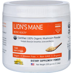 Mushroom Matrix Lions Mane - Organic - Powder - 7.14 Oz