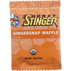 Honey Stinger Waffle - Organic - Gingersnap - 1 Oz - Case Of 16