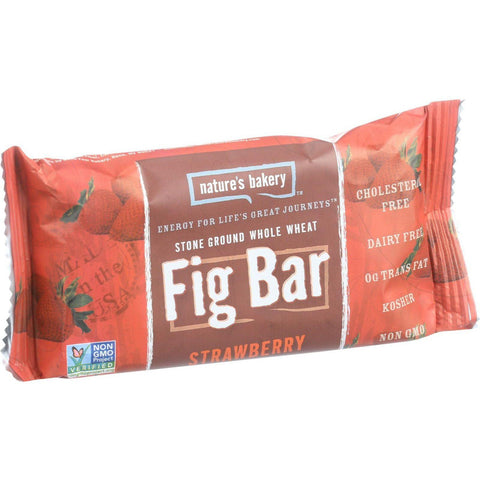 Nature's Bakery Stone Ground Whole Wheat Fig Bar - Strawberry - 2 Oz - Case Of 12