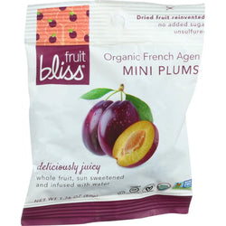 Fruit Bliss Organic Dried Plums - French Agen - Mini - 1.76 Oz - Case Of 12