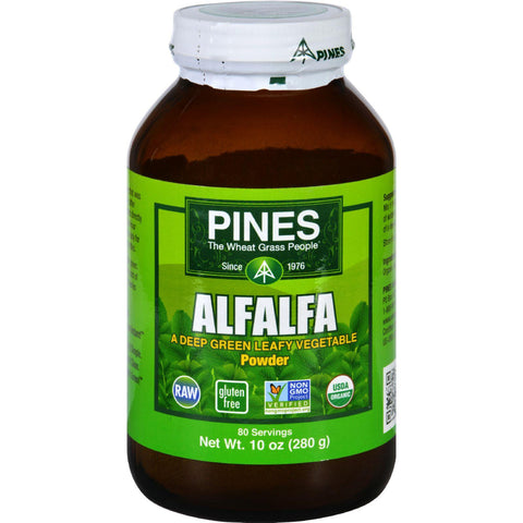 Pines International Alfalfa - Organic - Powder - 10 Oz