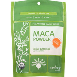 Navitas Naturals Maca Powder - Organic - Gelatinized - 8 Oz - Case Of 12